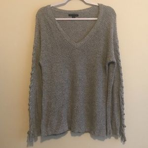 American Eagle Lace Up Sleeve Oversized Sweater